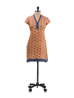 Yellow Printed Kurta - Aurelia