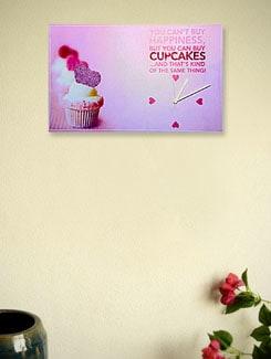 Zeeshaan Cup Cake Happiness Wall Clock - Zeeshaan