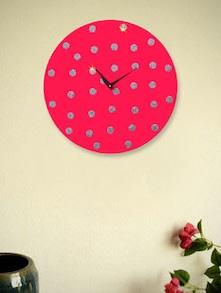 Silver Dots Wall Clock - Zeeshaan