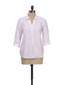 Light Pink Dotted Top - Myaddiction