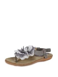Floral Grey Strappy Sandals - K22