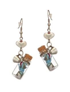 Bottled Love Charm Earrings - Salt