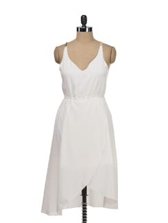 Pristine White Asymmetrical Dress - Tops And Tunics