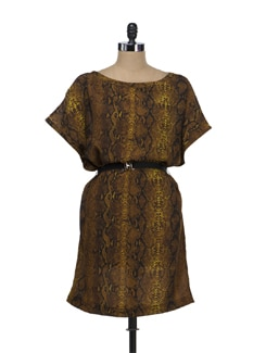 Chic Snake Print Dress - Tops And Tunics
