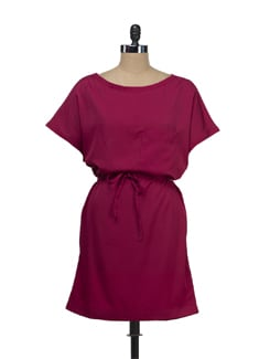 Casual Magenta Dress - Tops And Tunics