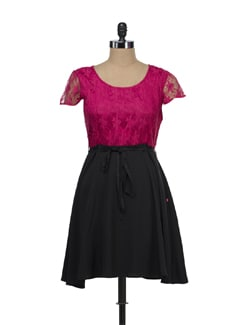 Fuchsia Lace Sundress - Tops And Tunics