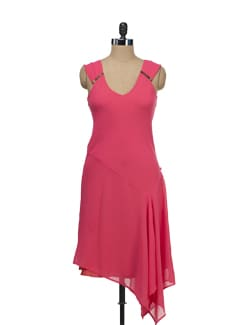 Elegant Coral Dress - Tops And Tunics