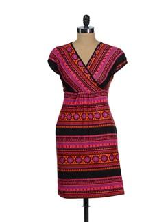 Multicolored Printed Dress - Global Desi