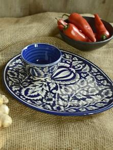Mughal Oval Dip Platter - Cultural Concepts