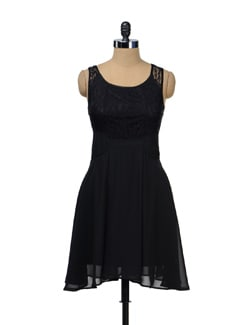 Lacy Black Dress - TREND SHOP