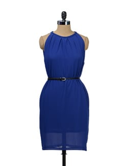 Royal Blue Halter Dress - TREND SHOP
