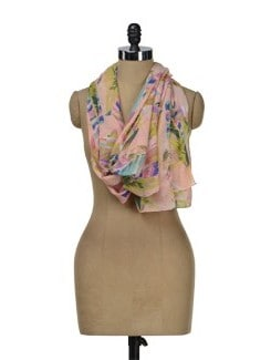 Colourful Printed Scarf - J STYLE