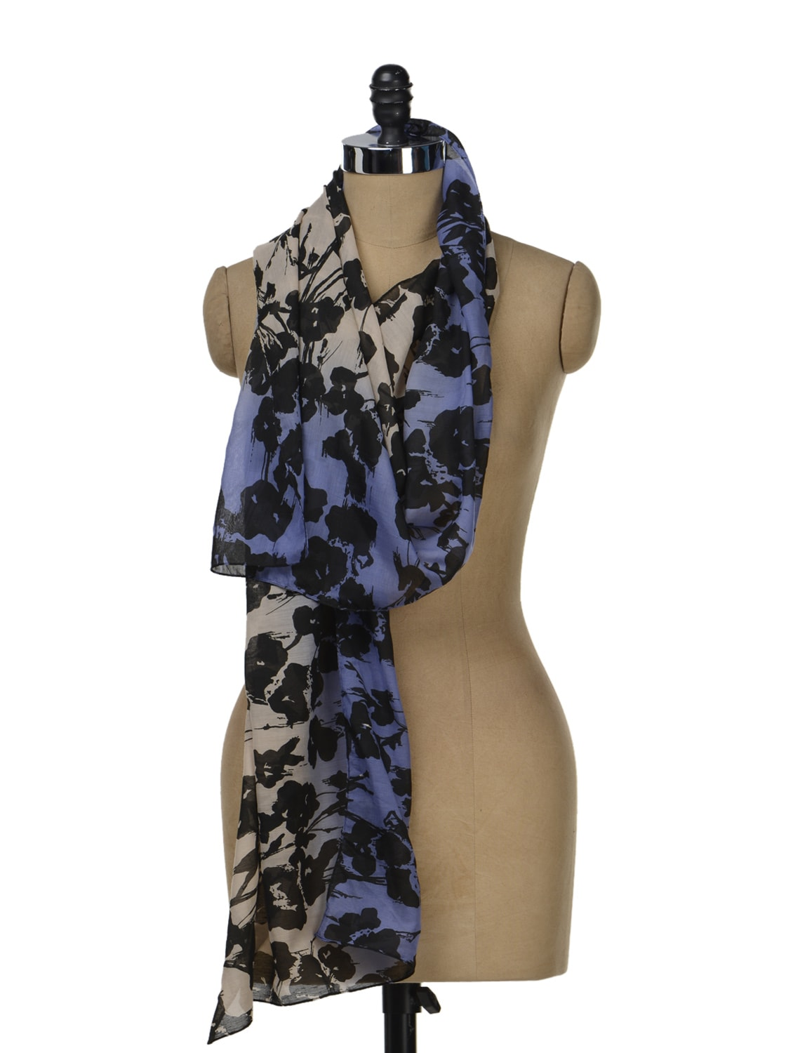 Cotton Abstract Print Scarf - J STYLE