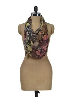 Colourful Abstract Print Scarf - J STYLE
