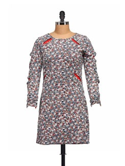 Floral Dress With Stylish Cut - Guster Ve..