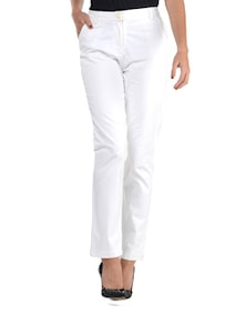 White Mid-waist Trouser - Guster Ve..