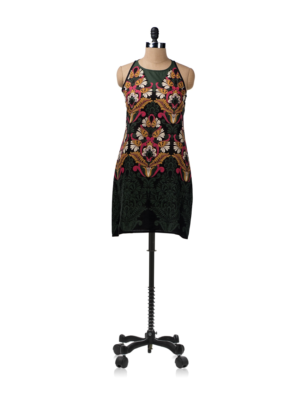 Tribal Printed Dress With Keyhole Back - ENAH