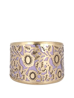 Purple And Gold Filigree Cuff - THE PARI
