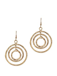 Ringed Hoop Earrings - THE PARI