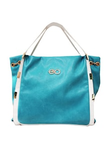 Contrast Panelling Hobo Bag - E2O