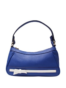 Blue Satchel With White Ribbon And Bow - E2O