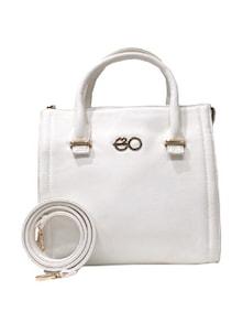 Elegant White Satchel With Sling - E2O