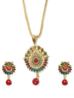 Multicolored Ethnic Necklace Set - Sparkling Deals