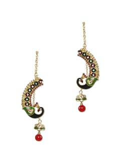 Golden Peacock Earrings - Sparkling Deals