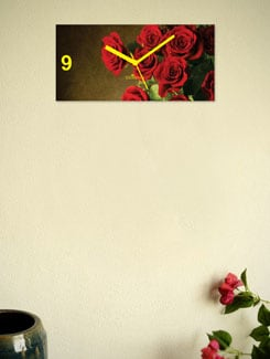 Red Roses Wall Clock - Zeeshaan