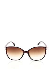 Brown Gradient Oval Sunglasses - Joe Black