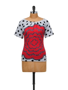 Stylish Red Rose Top - SPECIES