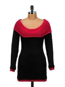 Stylish Black & Pink Pullover - SPECIES