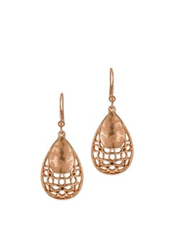 14K Rose Gold Plated Butterfly Earrings - Ivory Tag