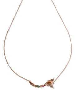 Embellished Butterfly Necklace - Ivory Tag