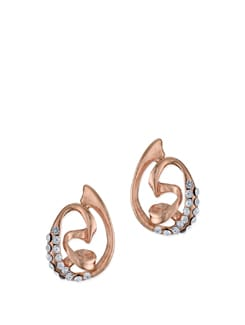Contemporary Rose Gold Studs - Ivory Tag