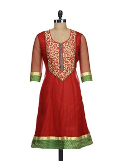 Gorgeous Kurta In Contrasting Colours - AKYRA
