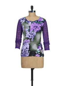 Purple Flora Top - AKYRA
