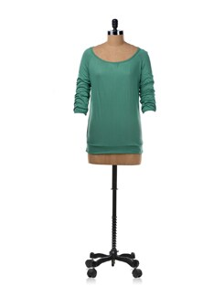 Jade Green Wide Neck T-shirt - Van Heusen