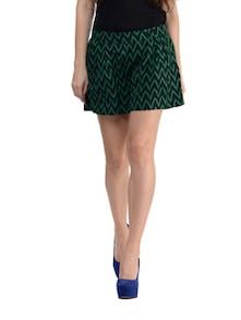 Zigzag Print Shorts With Inlay Pockets - STREET 9