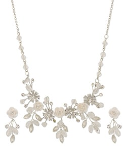 Rose Embellished Necklace Set - Freddy's