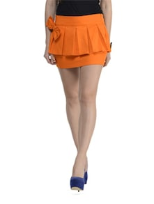 Orange Front Bow Skirt - Schwof