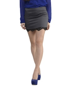 Grey Bottom Lace Skirt - Schwof