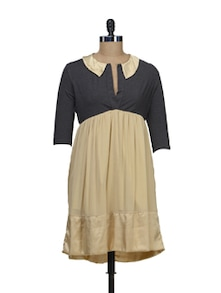 Beige Flair Dress - Schwof