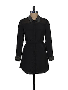 Black  Shirt Dress - Schwof