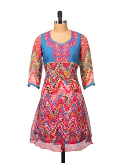 Multicolored Printed Kurta - RIYA
