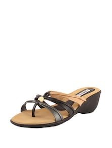 Black & Tan Casual Sandals - Bonjour
