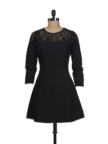 Black Lace Evening Dress - Thegudlook