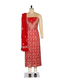 Rich Embroidered Red Suit - Ada
