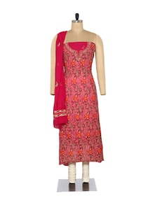 Rich Magenta Embroidered Suit - Ada