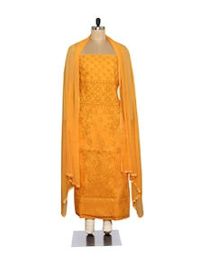 Elegant Orange Embroidered Suit - Ada